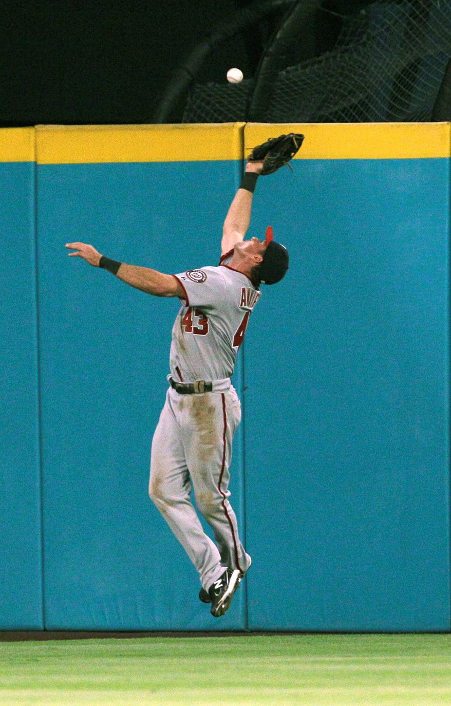 Washington Nationals' center fielder Rick Ankiel. (Associated Press)