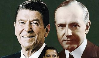 Illustration: Reagan and Coolidge