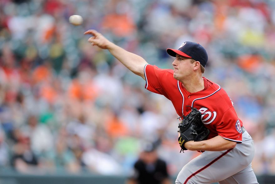ASSOCIATED PRESS  Nationals starter Jordan Zimmermann allowed just two earned runs in 6  1/3 innings but still dropped to 2-5 on the season after a 2-1 loss to the Orioles.