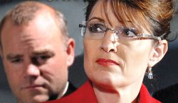 """A photo provided by Simon & Schuster shows the cover of """"Blind Allegiance to Sarah Palin"""" by Frank Bailey, a former member of Mrs. Palin's inner circle. (AP Photo/Simon & Schuster)"""
