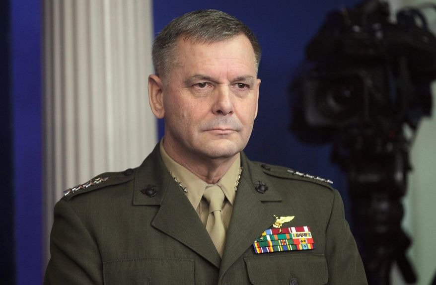 Marine Corps Gen. James E. Cartwright is vice chairman of the Joint Chiefs of Staff. (Associated Press)
