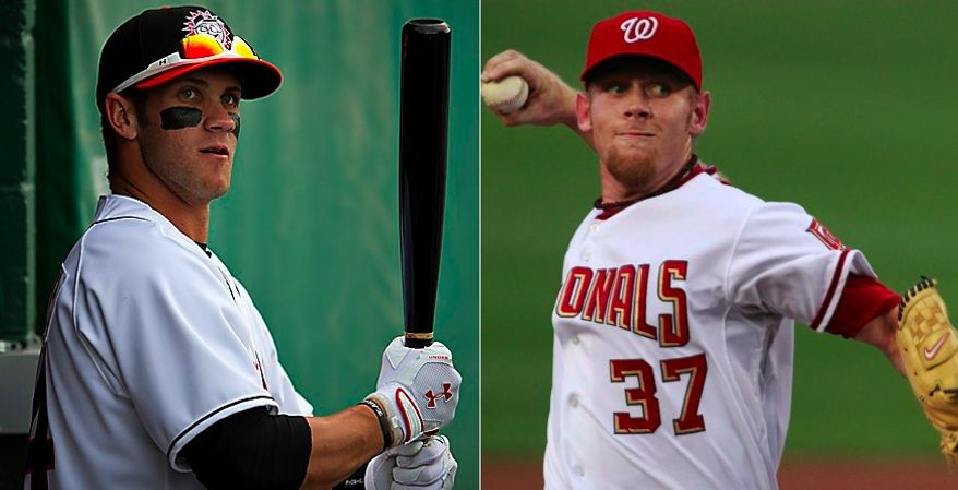 The Washington Nationals have been blessed with No. 1 picks in back-to-back drafts and once-a-generation prospects in Bryce Harper and Stephen Strasburg. It should be no surprise, then, that good karma has been hard to come by this year, as the Nats are 21-28 on the season and coming off a 1-7 road trip. (Drew Angerer / The Washington Times) / (Associated Press)