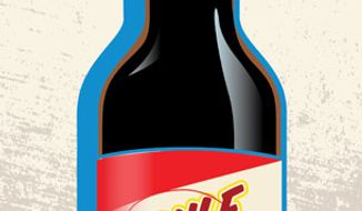 Illustration: Gulf sauce by Linas Garsys for The Washington Times