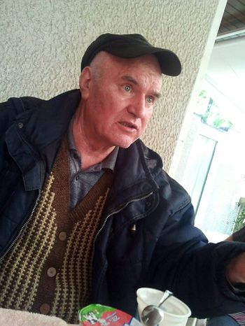 In this photo provided by Press newspaper, Saturday May 28, 2011, the Bosnian Serb army commander Ratko Mladic, who was arrested Thursday, May 26, 2011, is seen at an undisclosed location at an unknown time after his arrest in Serbia after years in hiding. (AP Photo/ Press Newspaper)