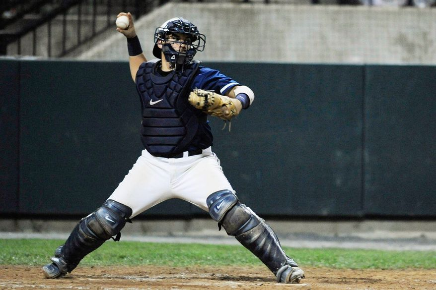 Erick Fernandez was drafted in the 46th round by Washington last year, but he opted to return to Georgetown for his senior season. He batted .315 and threw out 21 of 56 runners attempting to steal this season. (Georgetown Athletics)
