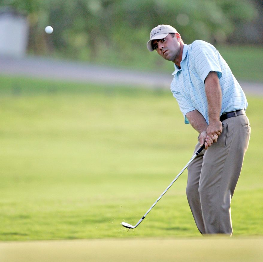 ASSOCIATED PRESS Ryan Armour, shown in Lake Buena Vista, Fla.,in 2007, has three top-25 finishes in seven starts on the Nationwide Tour this season. An Ohio State grad, he doesn't have a good feeling about the NCAA probe of his alma mater.