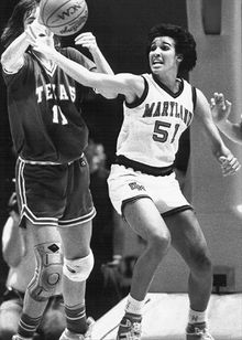 MARYLAND ATHLETICS Christy Winters-Scott described herself as a high-post and short-corner shooter with 3-point range during her playing career at Maryland. She graduated in 1990.