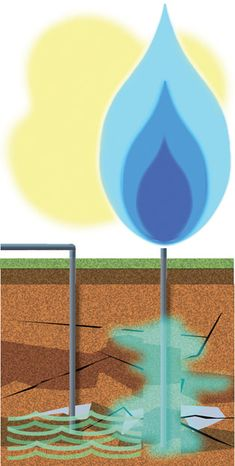 Illustration: Fracking by Alexander Hunter for The Washington Times