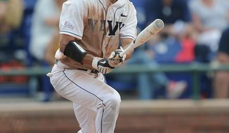 NAVY ATHLETICS Outfielder Alex Azor is batting .332 with 14 doubles for Navy, which faces Virginia on Friday in the NCAA baseball tournament.