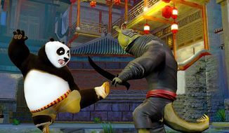Po battles the bad guys one at a time in Kung Fu Panda 2: The Video Game.