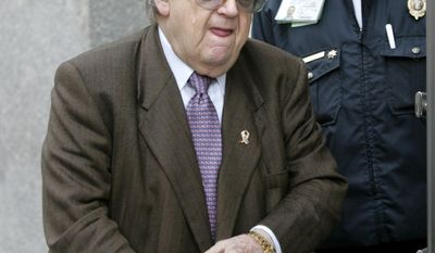 ** FILE ** This Nov. 27, 2006, file photo shows former Secretary of State Lawrence Eagleburger outside the Woodrow Wilson Center in Washington. Friends and former colleagues say Eagleburger, the only career foreign service officer to rise to the position of secretary of state, has died. (AP Photo/Lawrence Jackson, File)