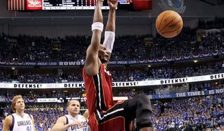 ASSOCIATED PRESS Miami's Chris Bosh said he couldn't  let getting poked in the eye bother him during the Heat's Game 3 victory.