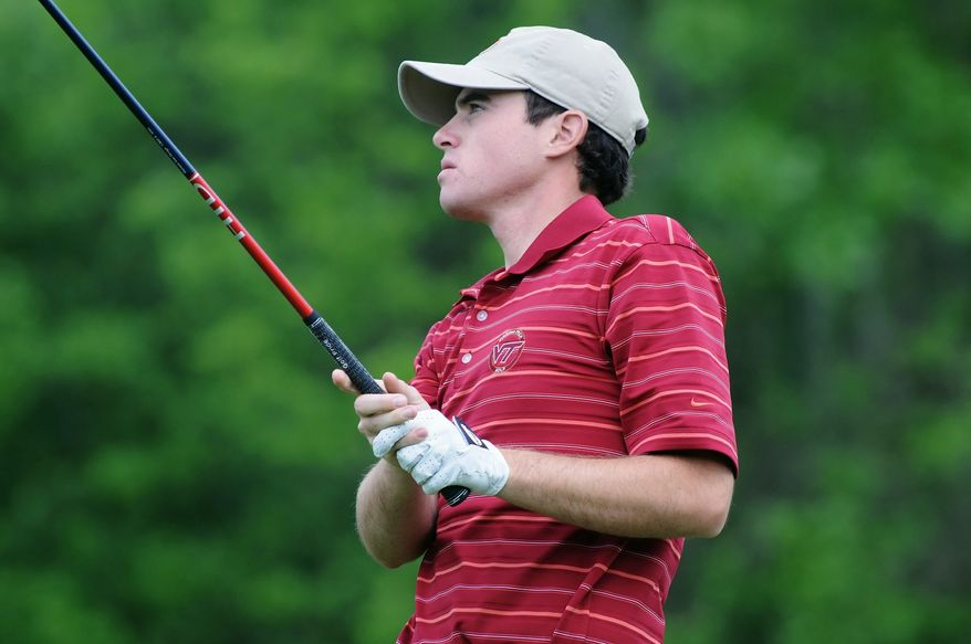 Drew Weaver will attempt to qualify for the U.S. Open on Monday at Woodmont Country Club in Rockville. The Open will be held June 16-19 at Congressional. (Dave Knachel/Virginia Tech)