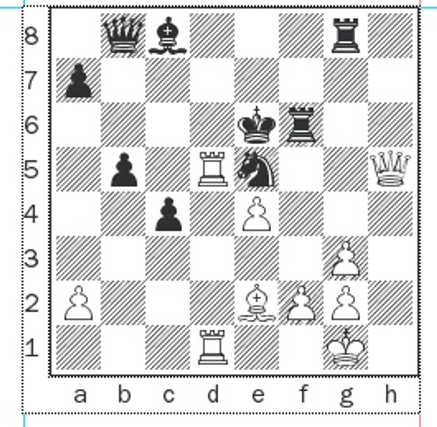 Anand-Shirov after 31...Rf6.