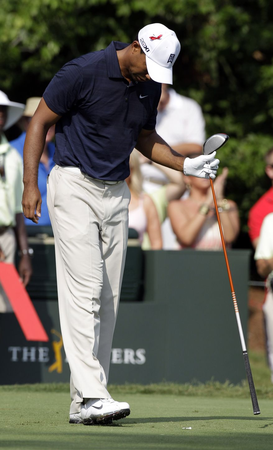 Tiger Woods withdrew from The Players Championship after nine holes back in May due to leg injuries and on Tuesday announced he'd also be skipping the U.S. Open. (AP Photo/Chris O'Meara)