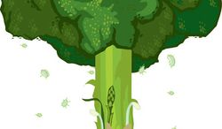 Illustration: Organic farming by Linas Garsys for The Washington Times