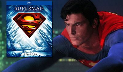 Christopher Reeve stars in most of Warner Home Video's new Blu-ray collection Superman: The Motion Picture Anthology.