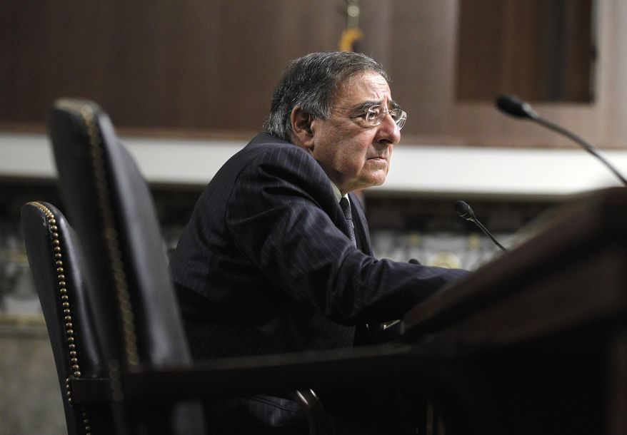 CIA Director Leon E. Panetta testifies on Capitol Hill in Washington on Thursday, June 9, 2011, before the Senate Armed Service Committee hearing on his nomination as secretary of defense. (AP Photo/Manuel Balce Ceneta)