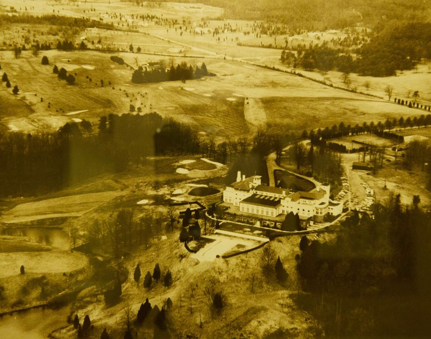 This undated photo shows the Congressional course in the early days, when it was surrounded by fields instead of multimillion-dollar mansions and subdivisions. (Congressional Country Club)