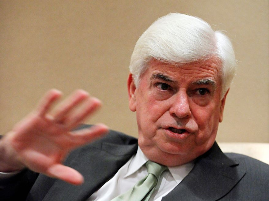 """ASSOCIATED PRESS """"It would be ridiculous for me to be here and not mention them (Hollywood's concerns). It would be just as ridiculous for me to get up at the Shanghai Film Festival and use it as a forum to raise my voice loudly about them,"""" said Chris Dodd, new chief executive of the Motion Picture Association of America."""