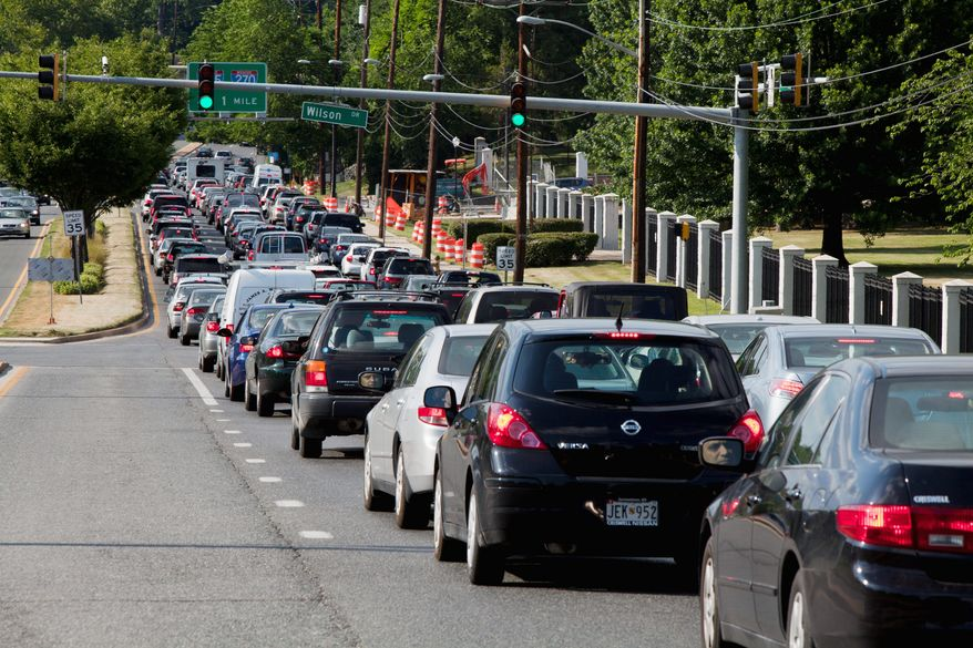 Traffic in Bethesda will become more choked than normal this week as spectators head to Congressional Country Club for the U.S. Open. Competition gets under way on Thursday and continues through Sunday at the time-honored club. (Pratik Shah/The Washington Times)