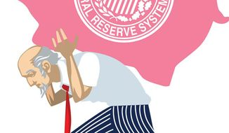 Illustration: Federal Reserve by Linas Garsys for The Washington Times