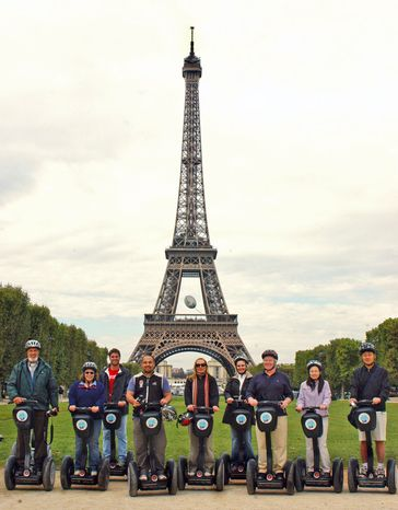 "CITY SEGWAY TOURS PARIS Segway tourism has become a popular way to see all the sights Paris has to offer, including the Eiffel Tower. ""They're just fun machines,"" explains Gra"