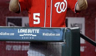 ASSOCIATED PRESS Nationals shortstop Ian Desmond has batted ninth in recent games, effectively giving Washington two leadoff hitters once the batting order turns. Manager Jim Riggleman resorted to the strategy in an attempt to spark a struggling offense.