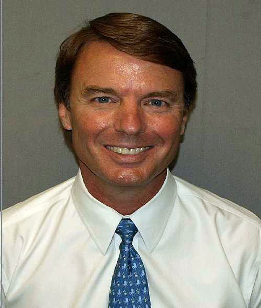 This undated photo released by the U.S. Marshals Service, Wednesday, June 15, 2011, shows former U.S. Sen. John Edwards, D-N.C., who pleaded not guilty to conspiracy and campaign law violations in early June. (AP Photo/U.S. Marshals Service)