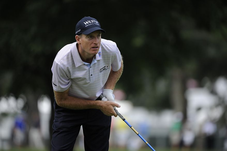 Jim Furyk during the first round of the U.S. Open at Congressional Country Club in Bethesda, Md., Thursday, June 16, 2011. (Drew Angerer/The Washington Times)