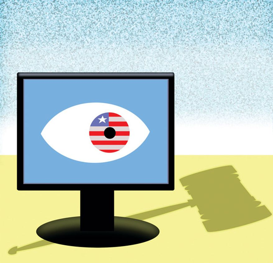 Illustration: The 'net by Alexander Hunter for The Washington Times