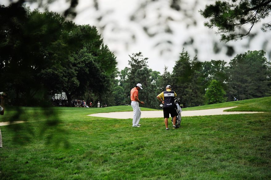 ROD LAMKEY, JR./The Washington Times Australia's Jason Day finished four rounds at Congressional Country Club at 8-under, but his play was no match for U.S. Open champion Rory McIlroy.