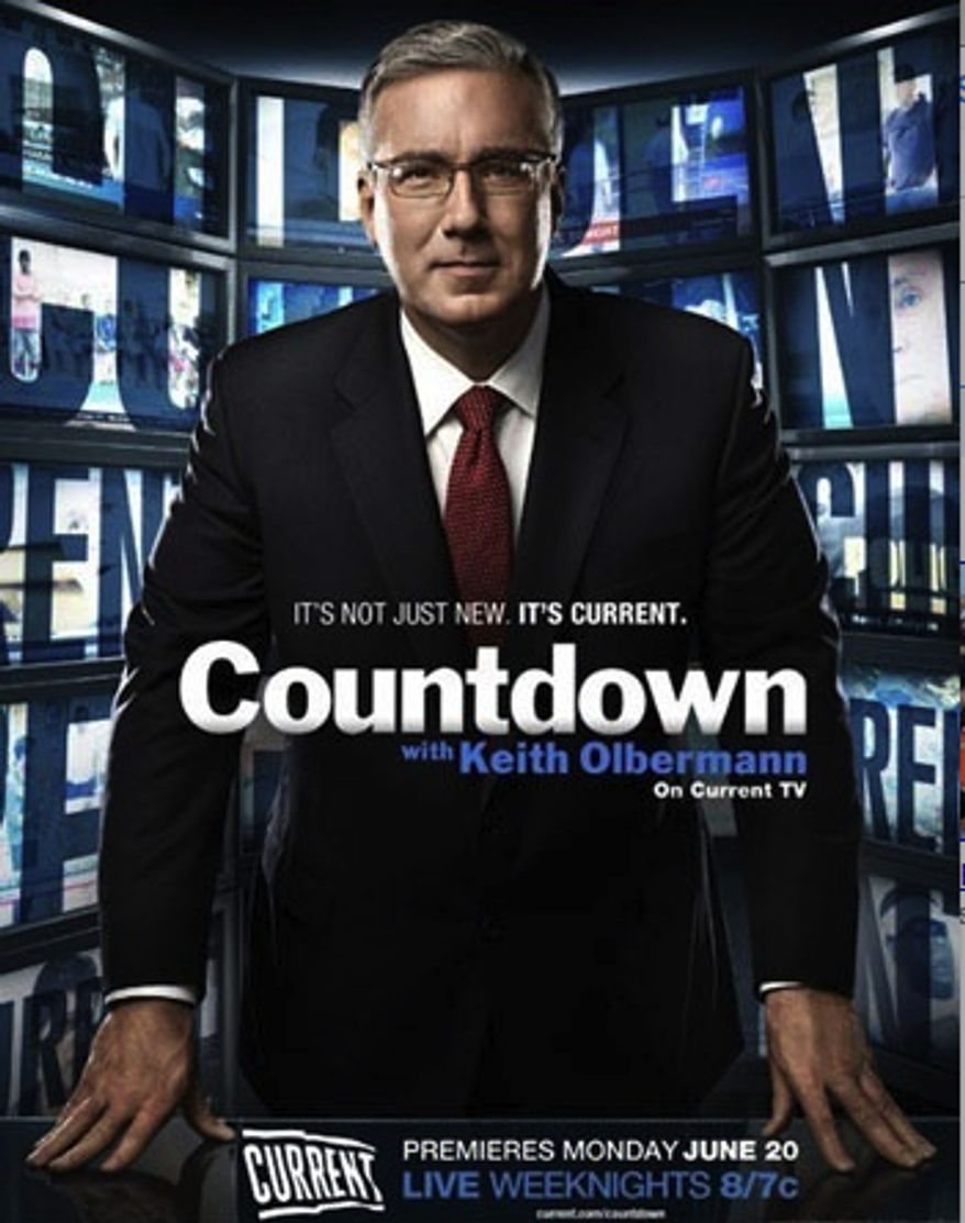 Ready to rumble: Keith Olbermann's progressive news and opinion show premiers on Current TV on Monday night. (Image courtesy of Current TV)