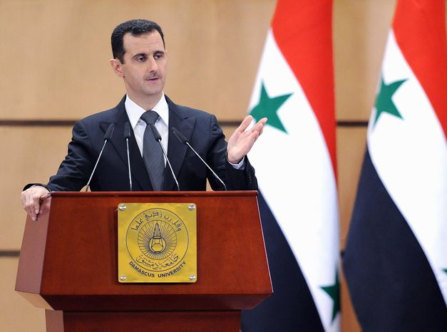 """Syrian President Bashar Assad said Monday his regime would consider political reforms, including ending his Baath Party's monopoly in politics, but thousands of enraged protesters accused him of clinging to power and took to the streets shouting, """"Liar!"""" (Associated Press)"""