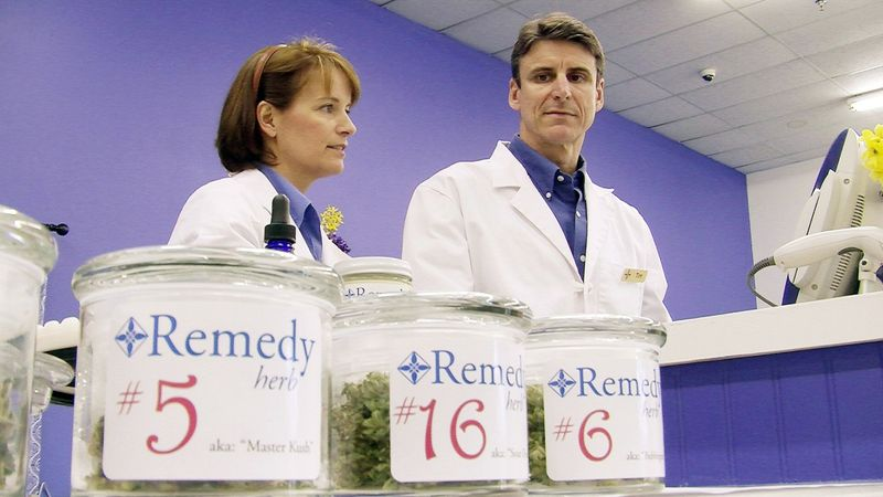 ** FILE ** In this June 20, 2011, file photo, more than 100 patients have signed up to buy marijuana at the Remedy Compassion Center in Auburn, Maine, where Tim and Jenna Smale opened a dispensary. They sell medical marijuana to individuals registered with the state. (Guy Taylor/The Washington Times)