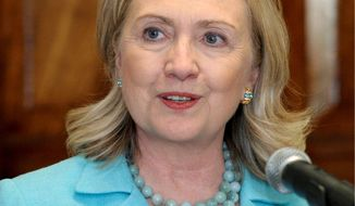 ** FILE ** Secretary of State Hillary Rodham Clinton (Associated Press)