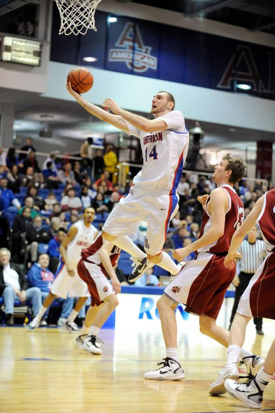 Vlad Moldoveanu is a former American University basketball player. (American University Athletics)