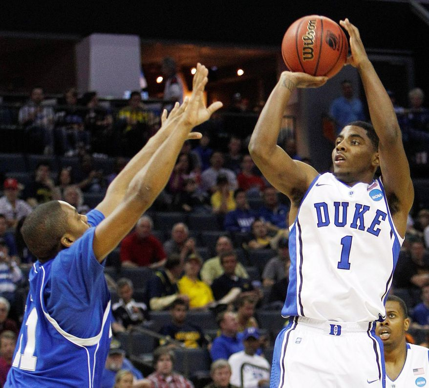 ASSOCIATED PRESS Guard Kyrie Irving's career at Duke lasted all of 11 games because of a toe injury. Still, he averaged 17.5 points and shot 53 percent from the floor and 46 percent from 3-point range.