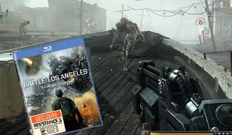 Players get a taste of Joseph Capelli's fight against the Chimeran forces in the Resistance 3 demo included in the Battle: Los Angeles Blu-ray.