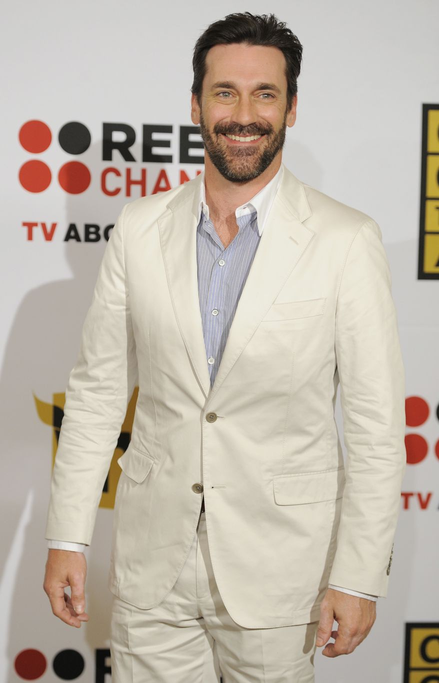** FILE ** In this Monday, June 20, 2011, file photo, actor Jon Hamm poses for a photo at the inaugural Critics' Choice Television Awards in Beverly Hills, Calif. (AP Photo/Chris Pizzello, File)