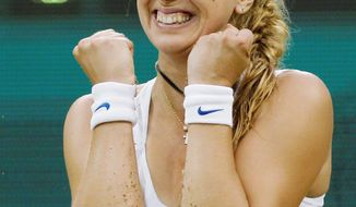 ASSOCIATED PRESS Wild card Sabine Lisicki, ranked 62nd, reacts after defeating French Open champion Li Na 3-6, 6-4, 8-6 in the second round of Wimbledon. Li reached the quarterfinals in 2006 and 2010.