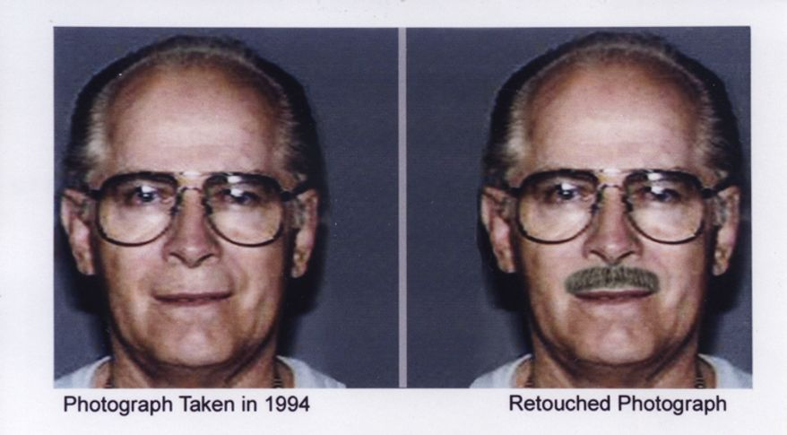"This combo of headshots was shown during a publicity campaign to locate the fugitive mobster James ""Whitey"" Bulger. The FBI finally caught the 81-year-old Bulger on Wednesday June 22, 2011, at a residence in Santa Monica along with his longtime girlfriend Catherine Greig. (AP Photo/FBI)"
