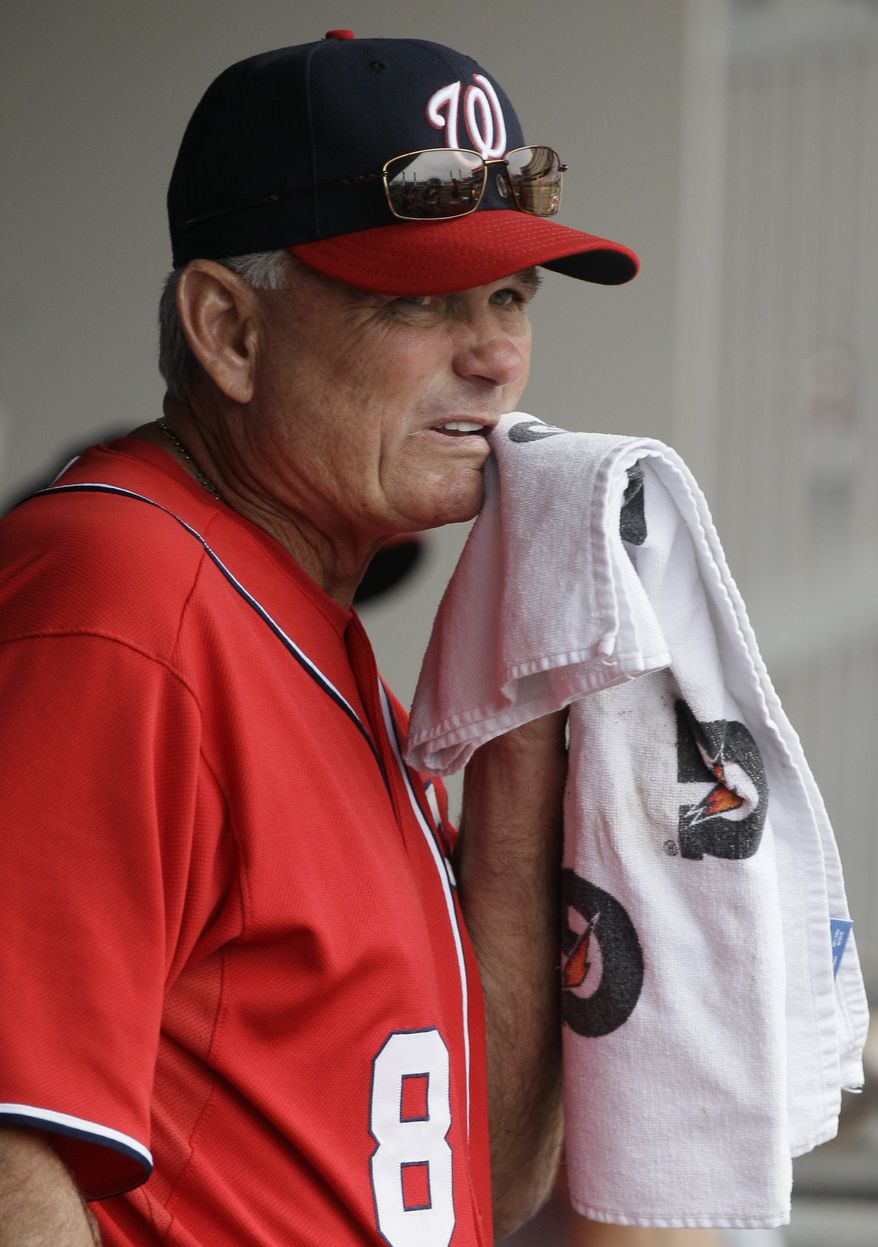 Washington Nationals interim manager John McLaren will leave the coaching staff following Sunday's game and be reassigned to a front-office position . (AP Photo/Nam Y. Huh)