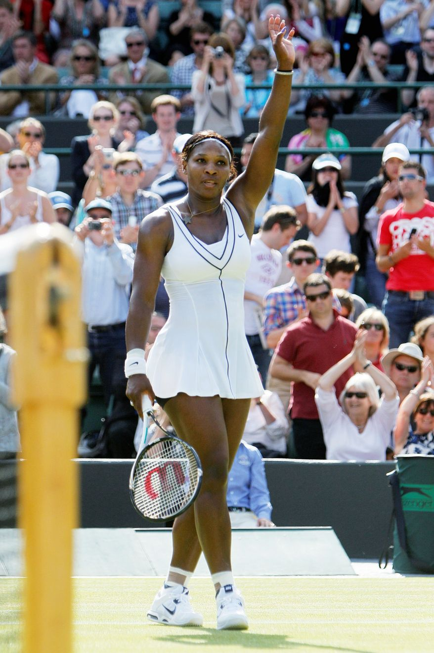 associated press Serena Williams, is attempting to become the first woman to win three consecutive Wimbledon titles since Steffi Graf in 1991-93.
