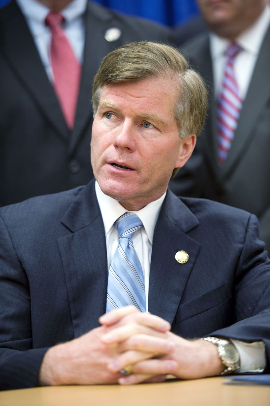 Virginia Gov. Bob McDonnell is taking  only small steps to promote clean energy and protect the Chesapeake Bay, environmental activists say. (Barbara L. Salisbury/The Washington Times)
