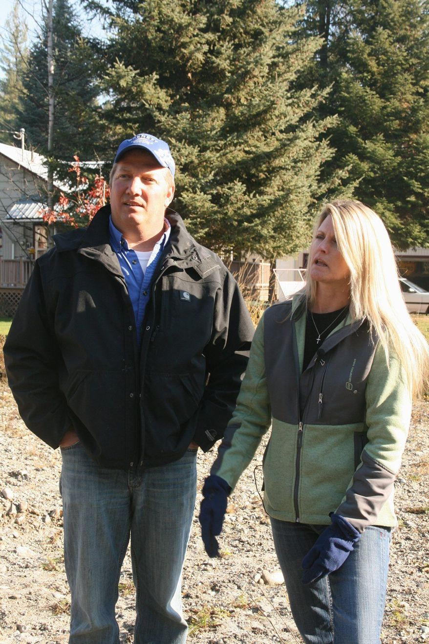 PACIFIC LEGAL FOUNDATION Mike and Chantell Sackett have been fighting the EPA for four years over property they bought in Idaho that's been declared a wetland by the agency.