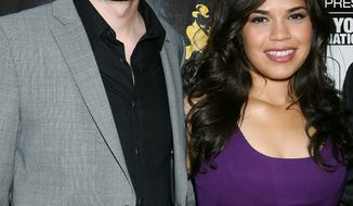 "FILE - In this July 27, 2010 file photo provided by StarPix, actress America Ferrera and her fiance director Ryan Piers Williams arrive at the 2010 New York International Latino Film Festival opening film ""Day Land."" Ferrera's representative confirmed Tuesday, June 28, 2011 that Ferrera and Williams wed Monday. (AP Photo/Dave Allocca, StarPix, file)"