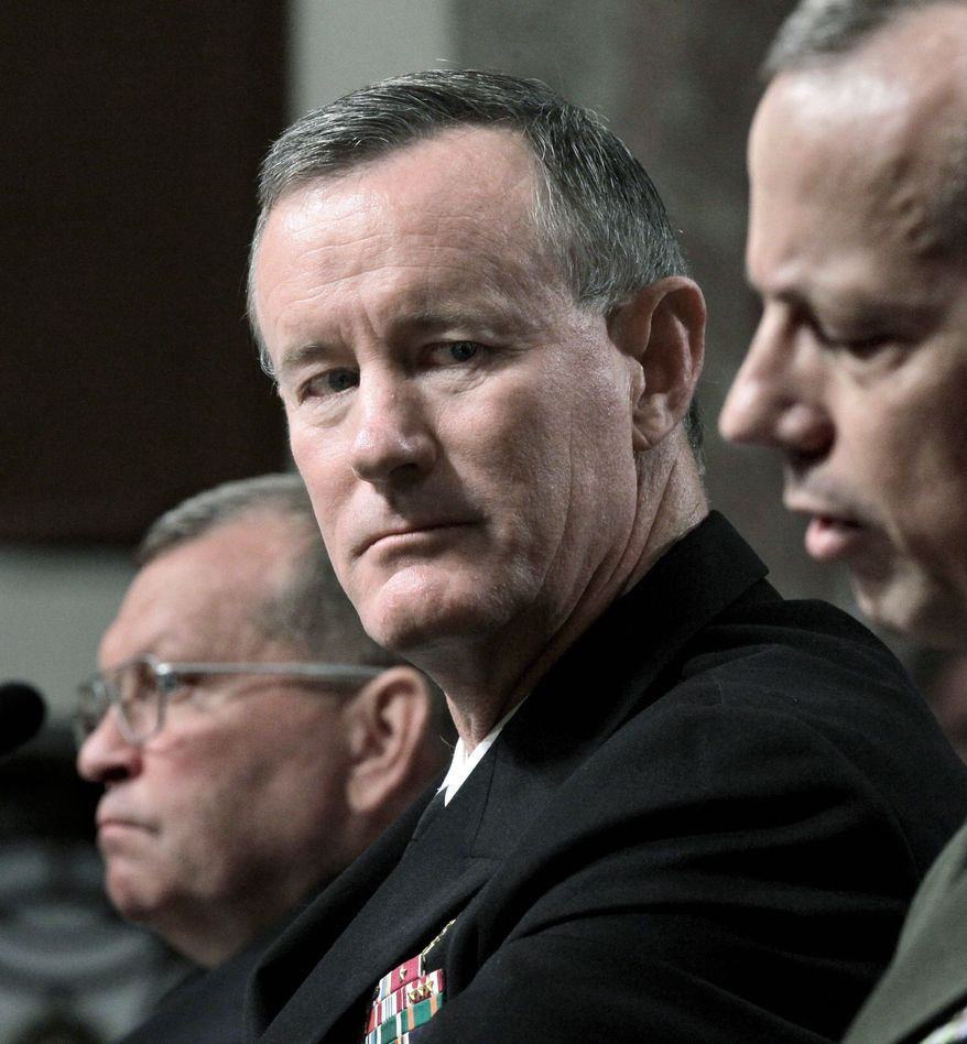 ** FILE ** Navy Vice Adm. William McRaven (Associated Press)