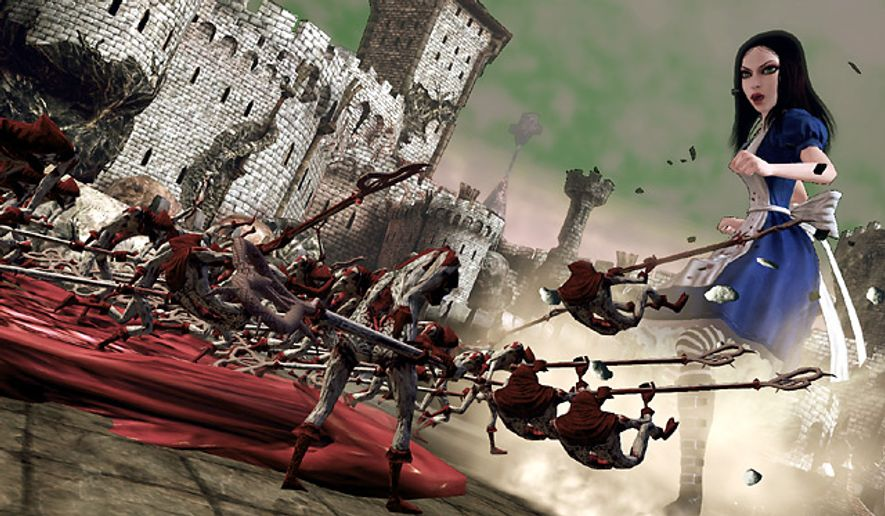 In the video game Alice: Madness Returns, Lewis Carroll's star battles plenty of familiar enemies.