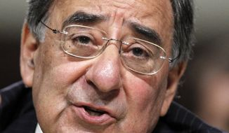 ** FILE ** In this June 9, 2011, file photo, Defense Secretary nominee Leon Panetta testifies on Capitol Hill in Washington. (AP Photo/Manuel Balce Ceneta, File)
